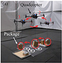 Image-Based Estimation, Planning, and Control of Cable-Suspended Payload for Package Delivery